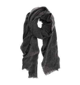 Joy Susan Heathered Fringe Scarf Charcoal