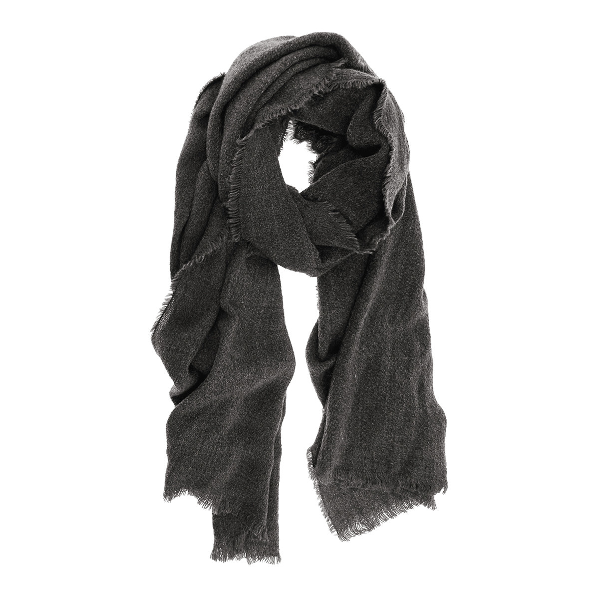 Joy Susan Joy Susan Heathered Fringe Scarf Charcoal
