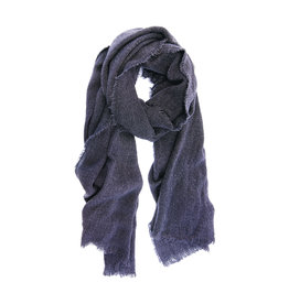 Joy Susan Heathered Fringe Scarf Navy