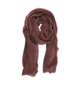 Joy Susan Heathered Fringe Scarf Burgundy
