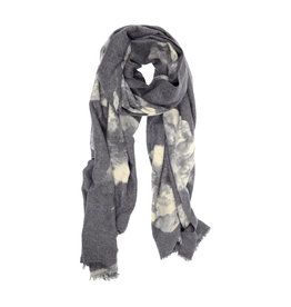 Joy Susan Luxurious Bloom Scarf Grey