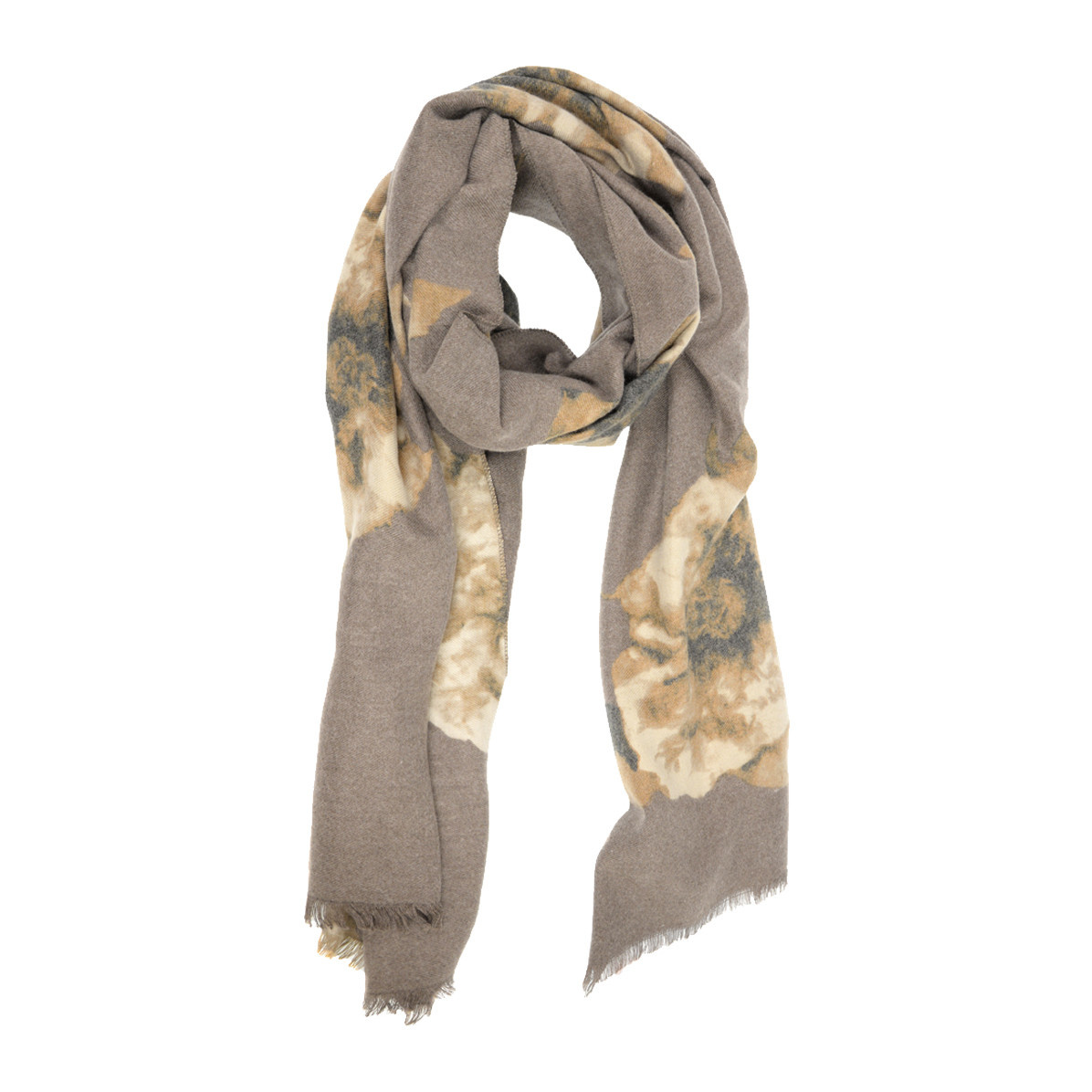 Joy Susan Joy Susan Luxurious Bloom Scarf Neutral