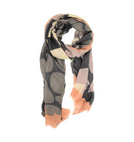Joy Susan Modern Geometric Scarf Blush
