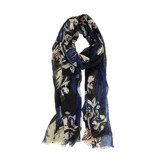 Joy Susan Joy Susan Feathery Bloom Scarf Navy