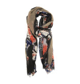 Joy Susan Joy Susan Feathery Bloom Scarf Neutral
