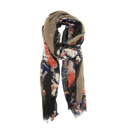 Joy Susan Feathery Bloom Scarf Neutral