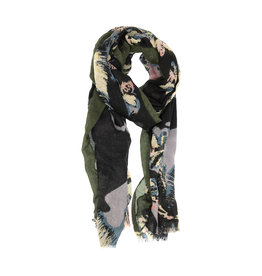 Joy Susan Feathery Bloom Scarf Olive