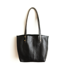 Outlaw Handmade Leather Tote Blk