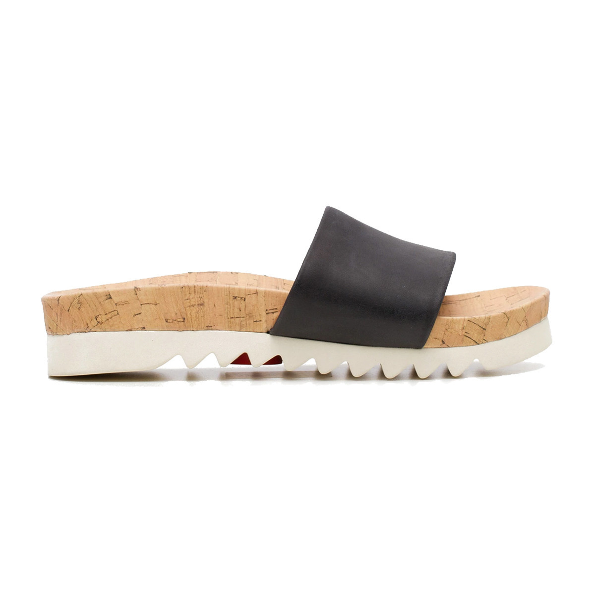 Rollie Rollie Sandal Slide Saw Tooth Wedge Black