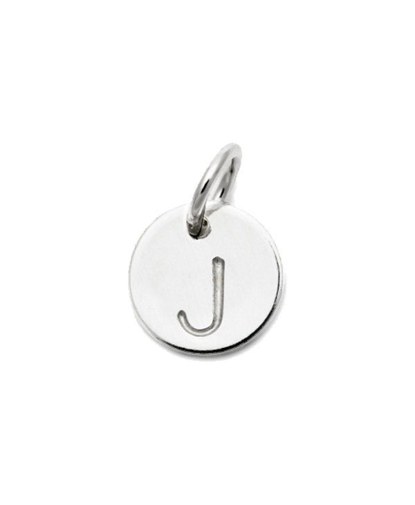 Laughing Sparrow Letter Charm J