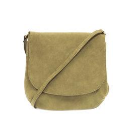 Joy Susan Jackie Flap Sueded Crossbody Handbag Fern Green