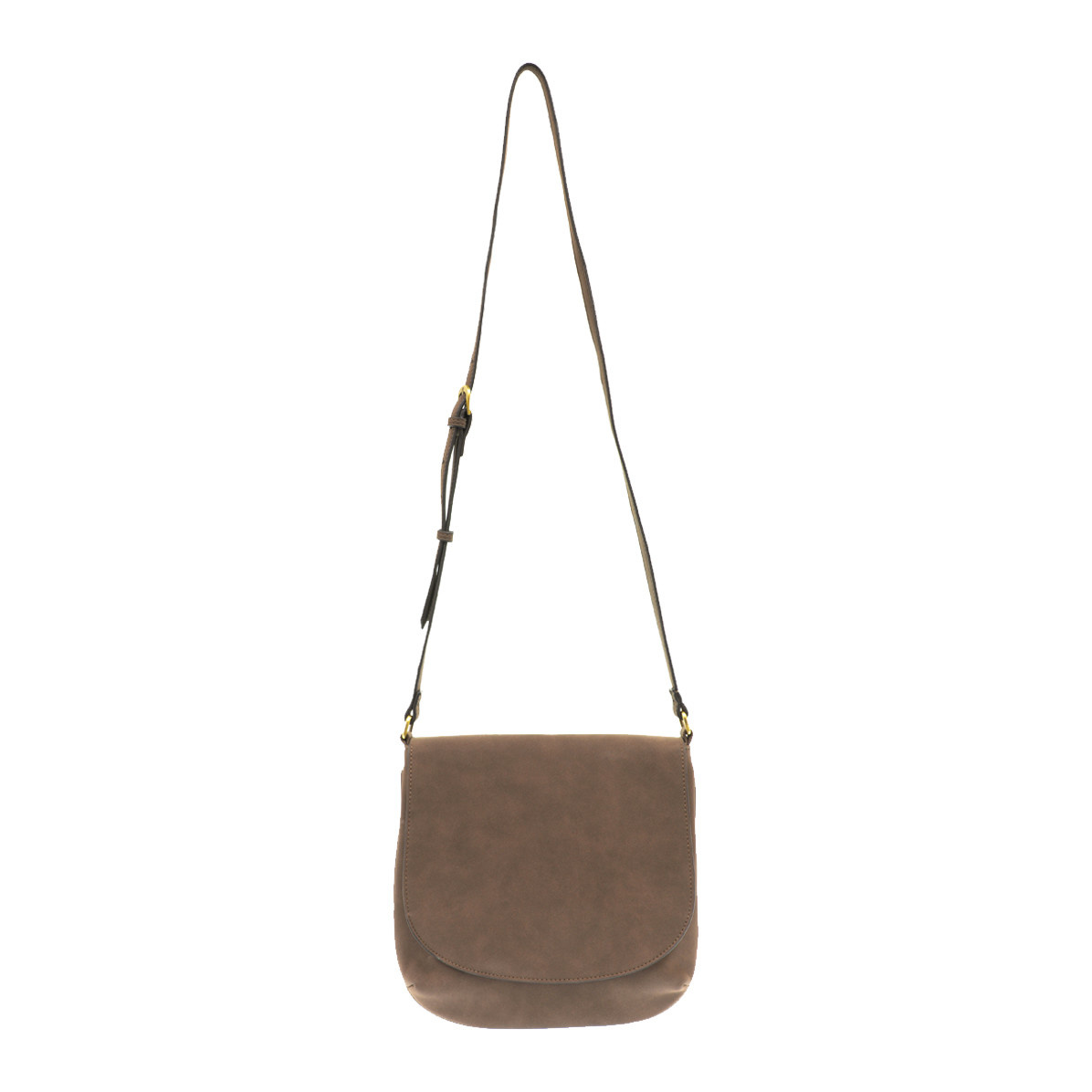 Joy Susan Joy Susan Jackie Flap Sueded Crossbody Handbag Mocha