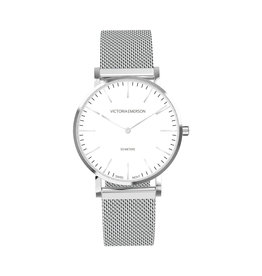 Victoria Emerson Petite on Silver Watch