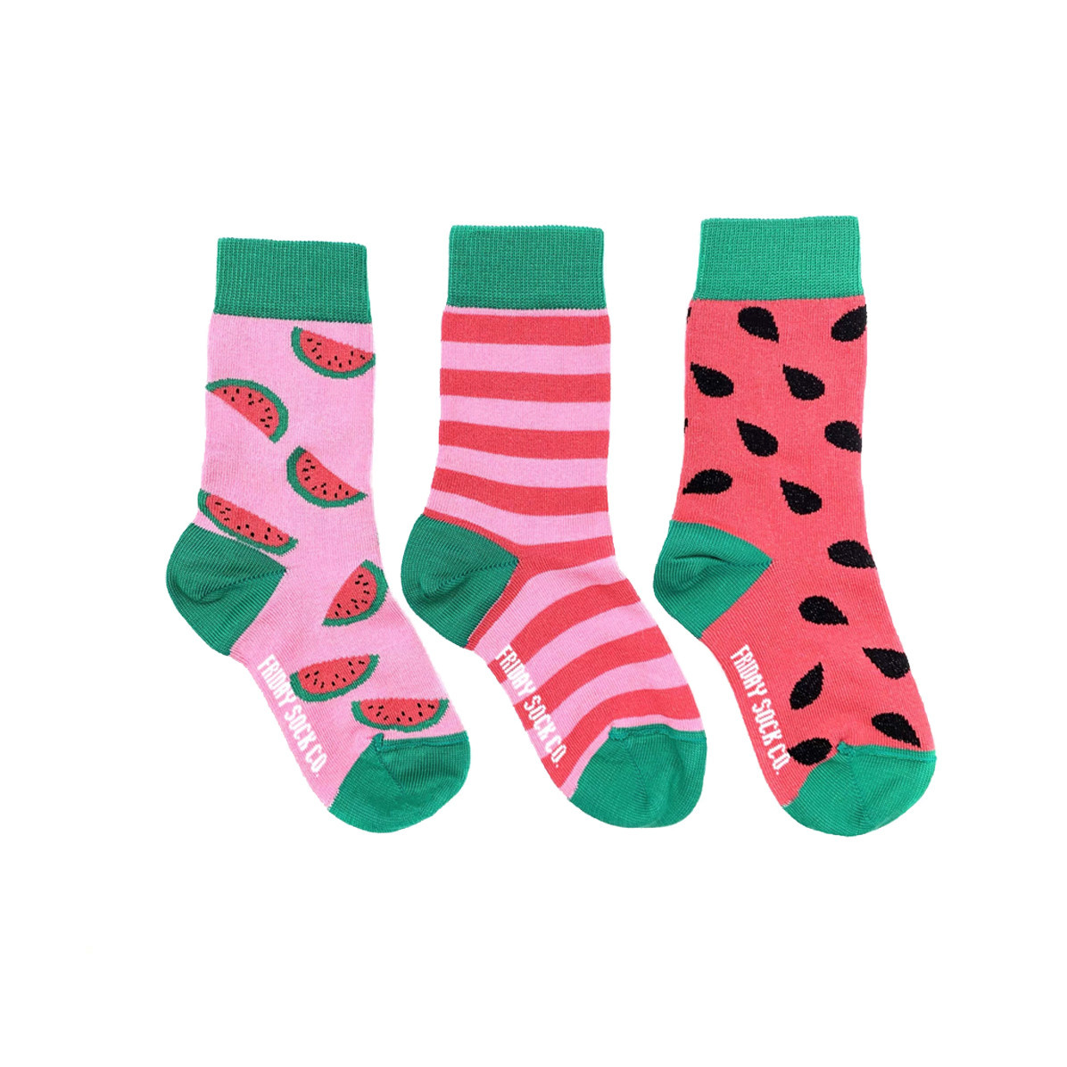 Friday Sock Co. Friday Sock Co. Kids Watermelon Crew