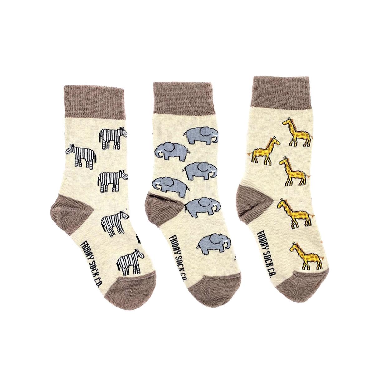 Friday Sock Co. Friday Sock Co. Kids Safari Crew