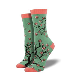 Socksmith Women's Cotton Blend Socks Cherry Blossoms