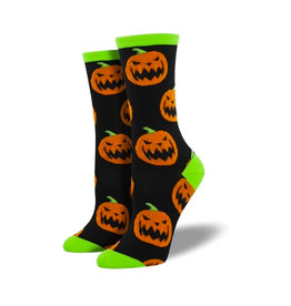 Socksmith Women's Cotton Blend Socks Halloween Pumpkins