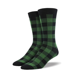 Socksmith Men's Bamboo Buffalo Plaid