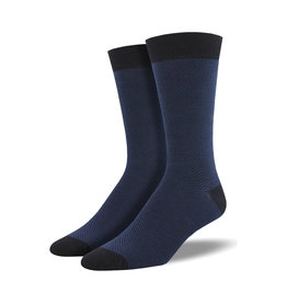 Socksmith Men's Bamboo Herringbone Navy