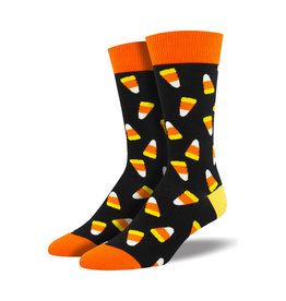 Socksmith Men's Cotton Crew Socks Candy Corn