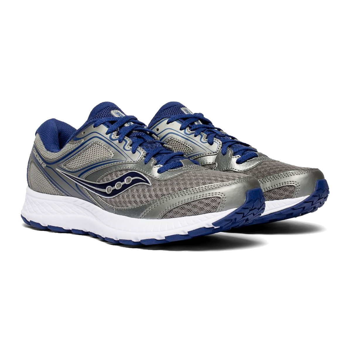 Saucony Saucony Men's Cohesion 12 Gry/Blu Wide