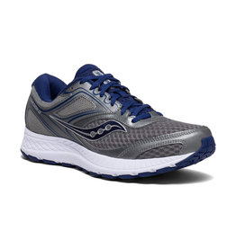 Saucony Men's Cohesion 12 Gry/Blu Wide