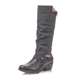 Rieker Women's 93655-00 Tall Boot Black