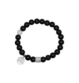 Lia Lubiana Onyx Silver Bracelet