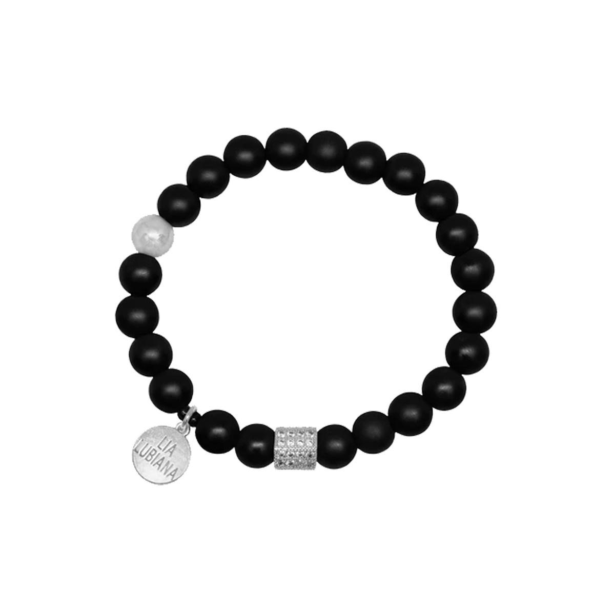 Lia Lubiana Lia Lubiana Onyx Silver Bracelet