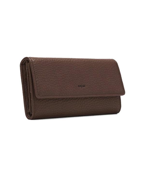 Colab Pebble Tri-Fold Vegan Leather Wallet