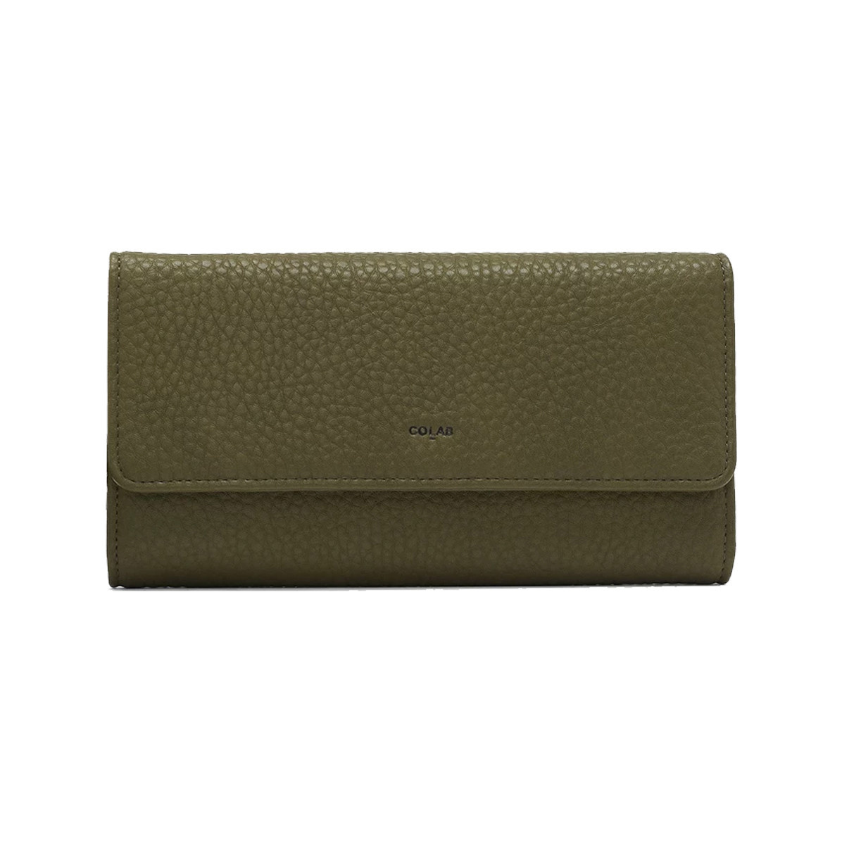 Colab Colab Pebble Tri-Fold Vegan Leather Wallet