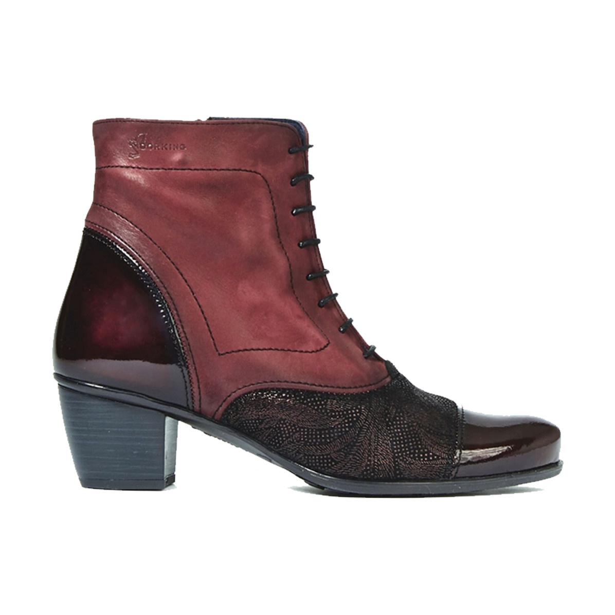 Dorking Dorking Women's D7255 Burgundy