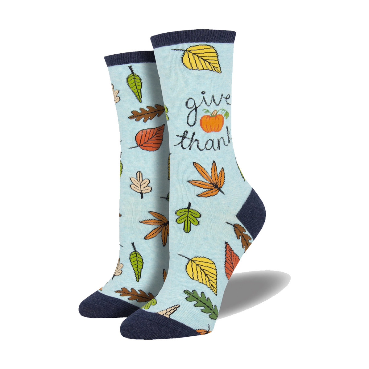 Socksmith Socksmith Women's Cotton Blend Socks Give Thanks