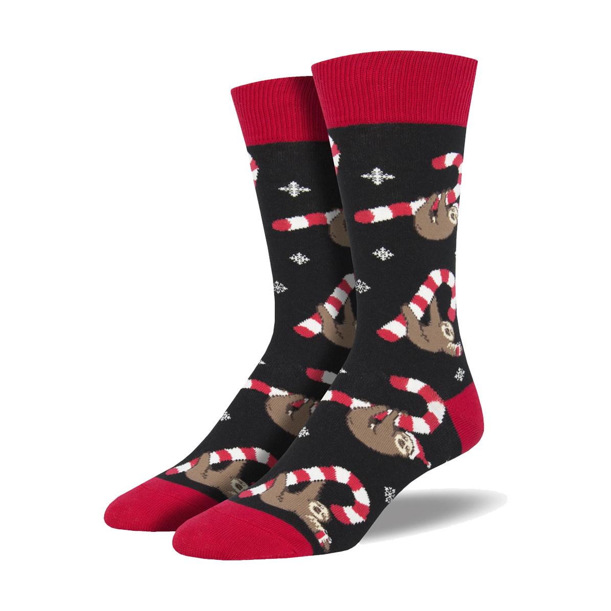 Socksmith Socksmith Men's Cotton Crew Socks Merry Slothmas
