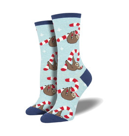 Socksmith Women's Cotton Blend Socks Merry Slothmas