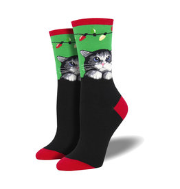 Socksmith Women's Cotton Blend Socks Purrty Lights