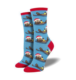 Socksmith Women's Cotton Blend Socks Otterly Merry