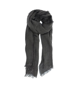 Joy Susan Herringbone Scarf Charcoal