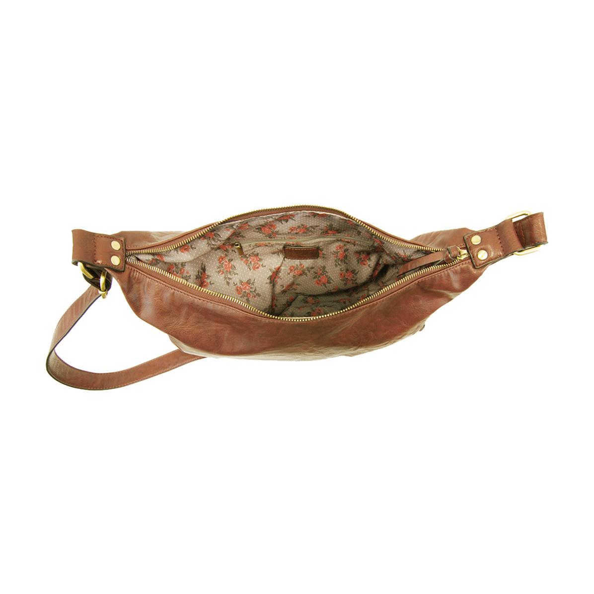 Joy Susan Joy Susan Debbie Vintage Hobo Handbag Cognac
