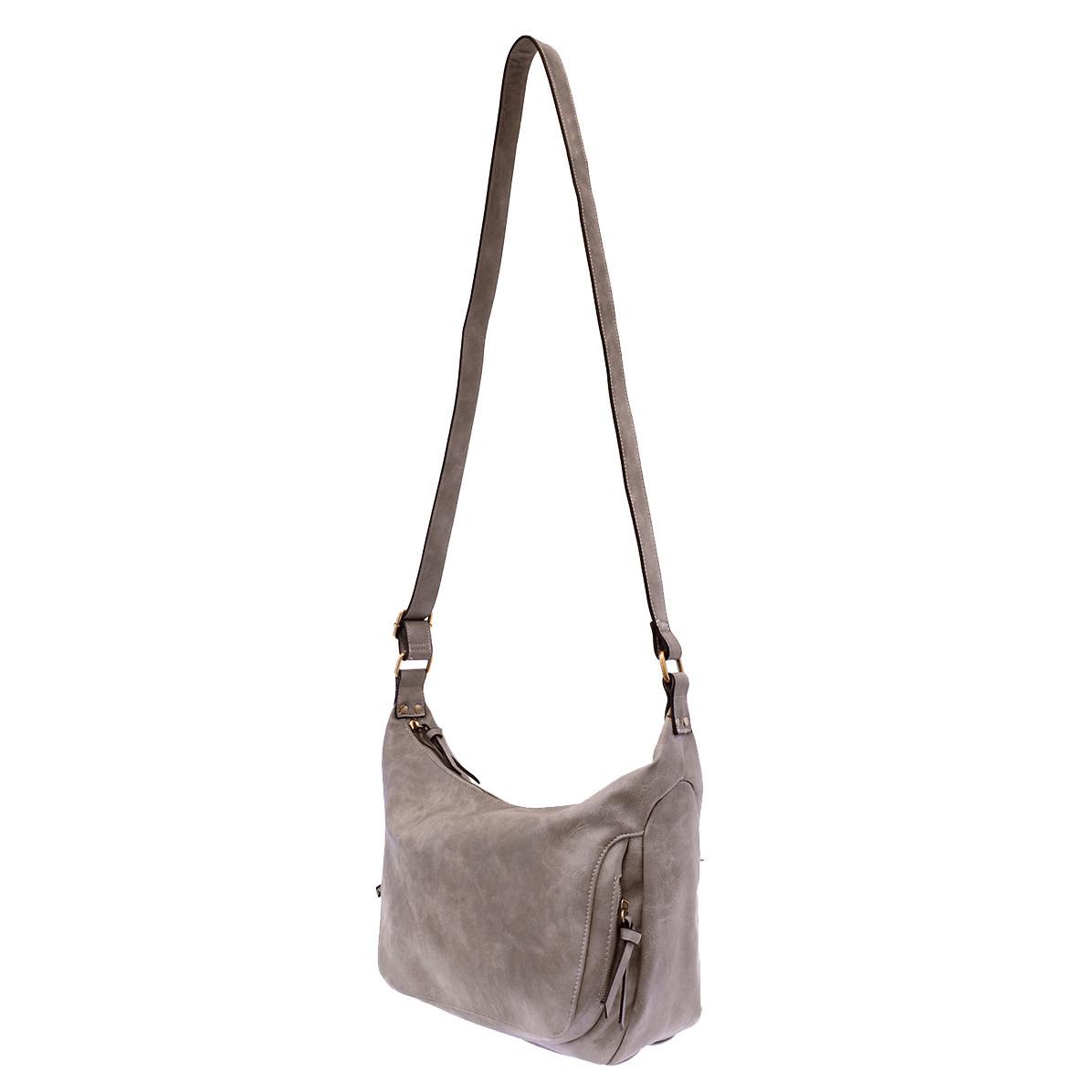 Joy Susan Joy Susan Debbie Vintage Hobo Handbag Grey Wisteria