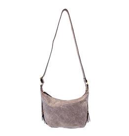 Joy Susan Debbie Vintage Hobo Handbag Grey Wisteria