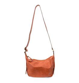 Joy Susan Debbie Vintage Hobo Handbag Persimmon