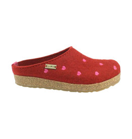 Haflinger Women's Cuoricini Red Slippers