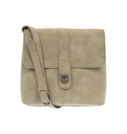 Joy Susan Rachel Nubuck Flip Lock Crossbody Cement
