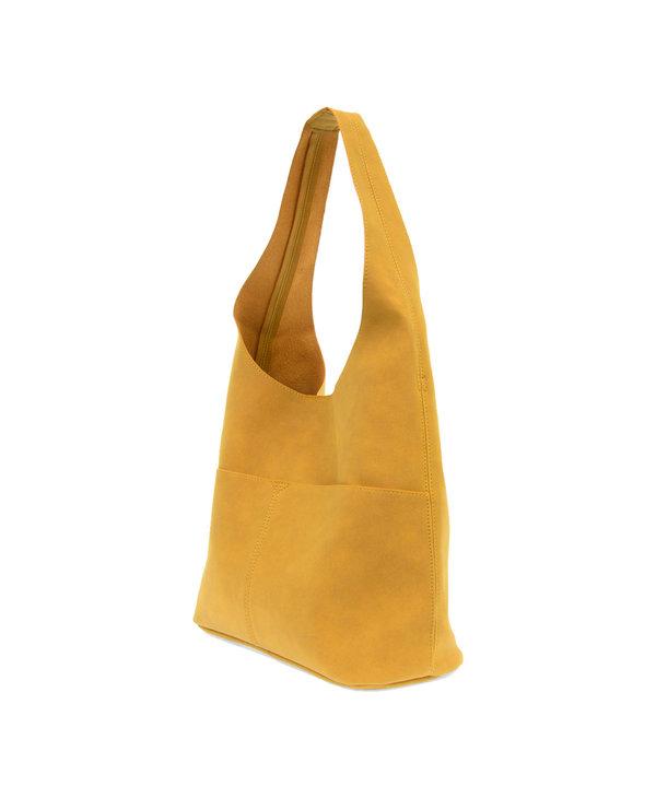 Joy Susan Jenny Faux Suede Handbag Butterscotch