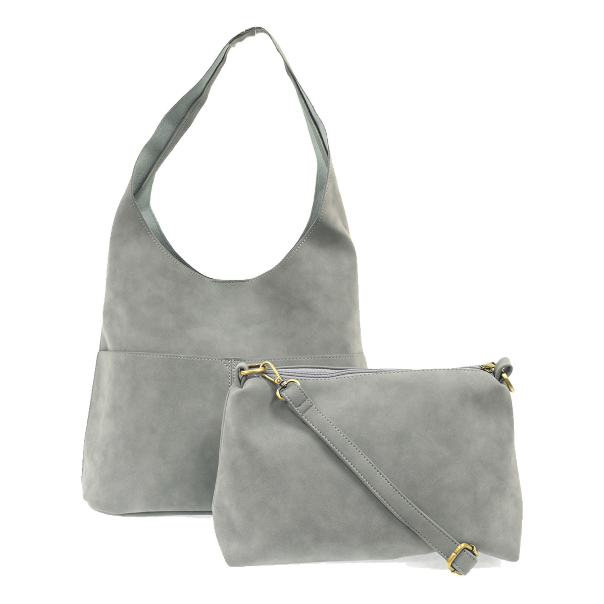Joy Susan Joy Susan Jenny Faux Suede Handbag Dusty Blue