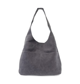 Joy Susan Jenny Faux Suede Handbag Dark Chambray