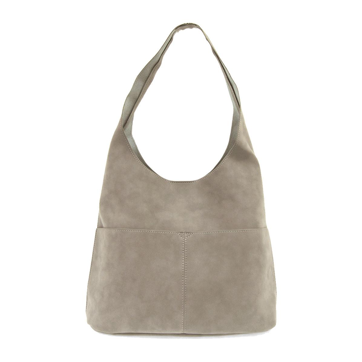Joy Susan Joy Susan Jenny Faux Suede Handbag Stone Grey