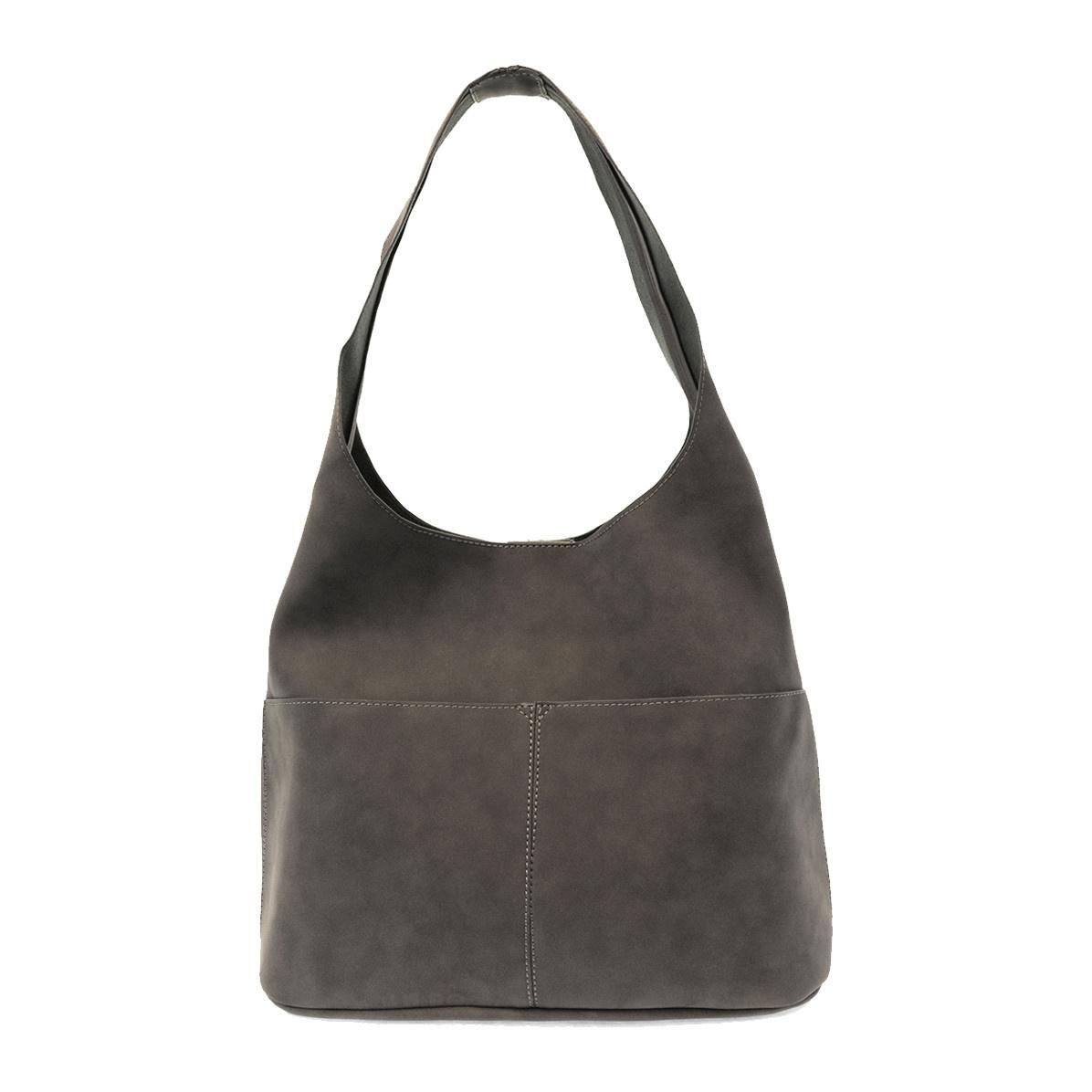Joy Susan Joy Susan Jenny Faux Suede Handbag Dark Grey