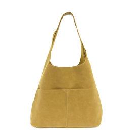 Joy Susan Jenny Faux Suede Handbag Khaki